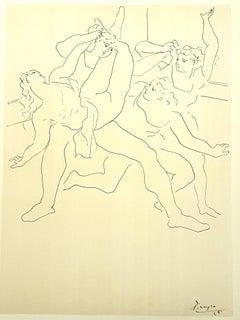 Pablo Picasso (after) - Four Ballet Dancers - Lithograph