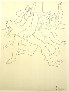 Pablo Picasso (after) - Four Ballet Dancers - Lithograph