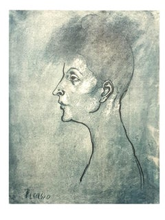 Pablo Picasso (after) - Head of a Woman - Lithograph