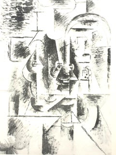 Pablo Picasso (after) - Man with Pipe - Lithograph