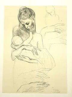 Pablo Picasso (after) - Mother and Child - Lithograph
