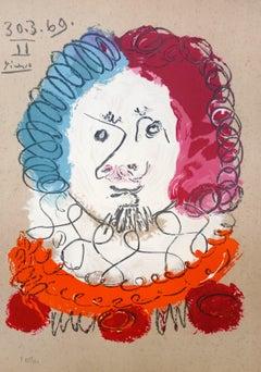 Pablo Picasso (after) - Portrait 7 - lithograph 1969