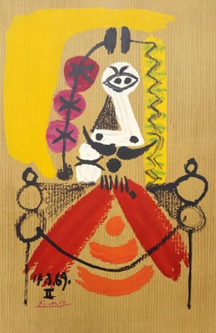 Pablo Picasso (after) - Portrait 8 - lithograph 1969