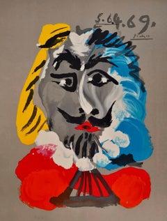 """Pablo Picasso """"Portraits Imaginaires: Mousquetaire"""" 1969, Lithograph"""