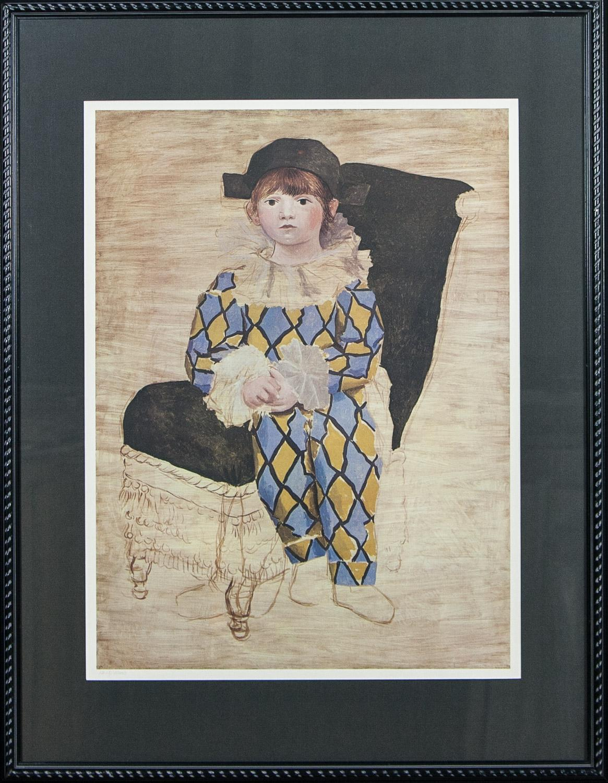 Paul en Arlequin Collection du Musee Picasso-Paris 1980 limited ed. lithograph