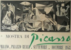"""Picasso exhibition poster, """"Mostra di Picasso,"""" depicting Guernica - 1953"""