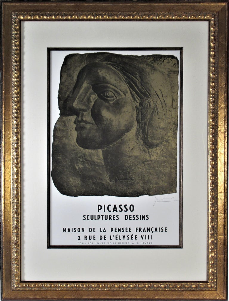 """Exhibition poster for """"Picasso: Sculpture, Dessins,"""" 1958, offered by Joseph Grossman Fine Art"""