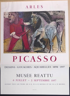 Picasso Vintage Exhibition Poster in Arles - 1957