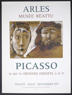 Picasso Vintage Exhibition Poster in Arles - 1971