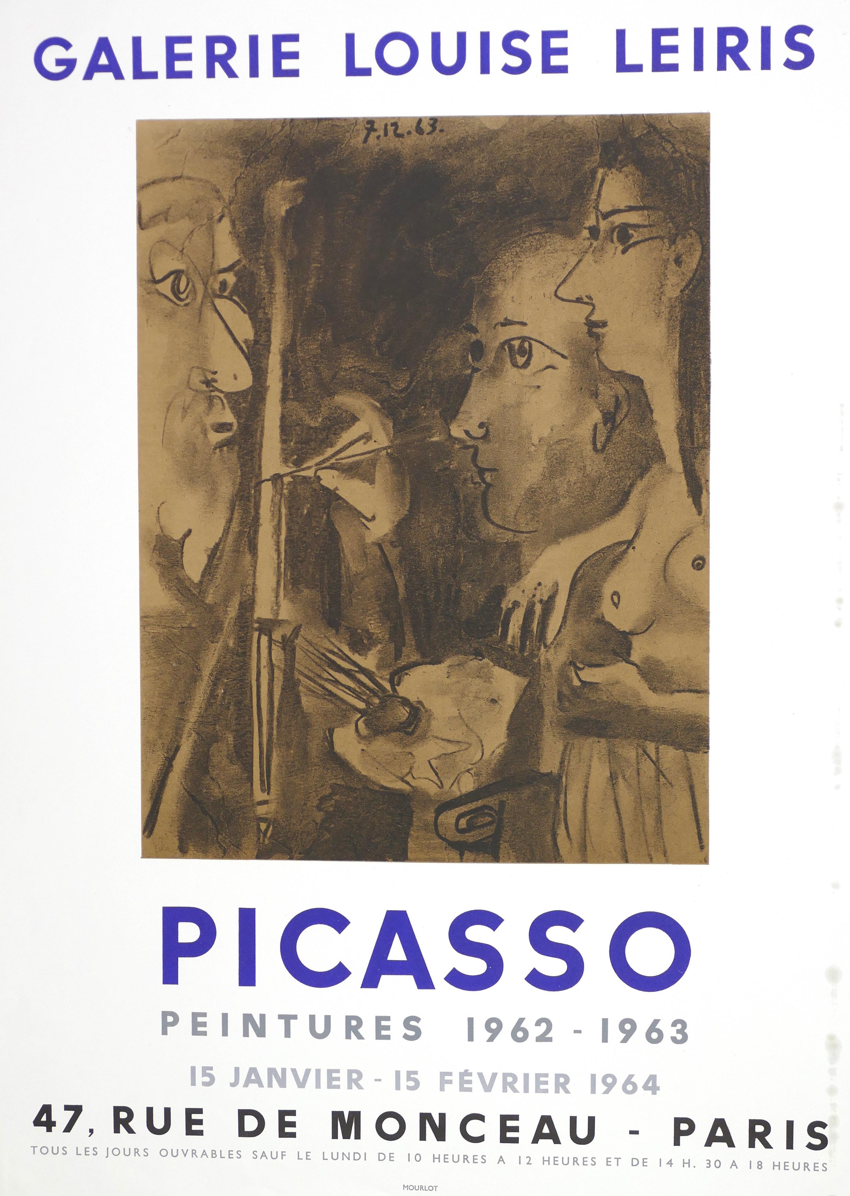 Picasso Vintage Exhibition Poster in Paris - 1964