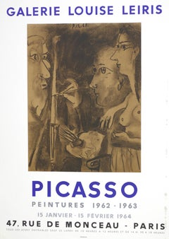 Picasso Vintage Exhibition Poster in Paris - 1964