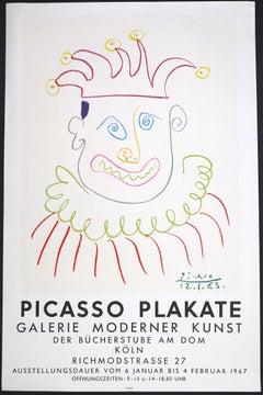 Picasso Vintage Poster Galerie Moderner Kunst der Bücherstube, Köln - 1967