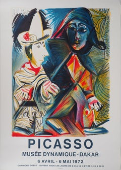 Pierrot and Harlequin - Lithograph (Mourlot, 1972)