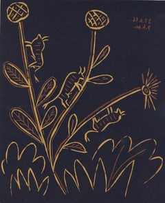 Plante aux Toritos  - Linocut Reproduction After Pablo Picasso - 1962