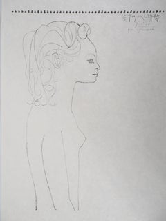 Profile of Genevieve - Lithograph on Japan paper - Limited to 100 proofs