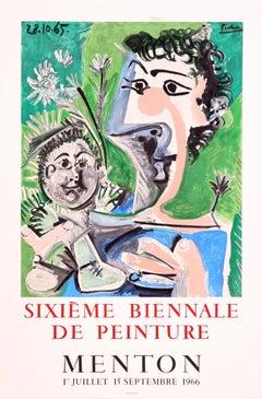 Sixieme Biennale de Peinture - Menton (after) Pablo Picasso, Lithographic Poster