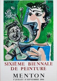 """""""Sixieme Biennale de Peinture,"""" Original Vintage Lithographic Poster"""