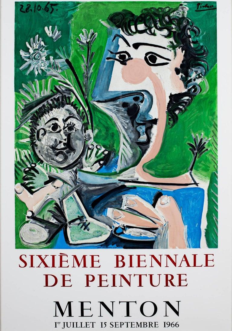 """(after) Pablo Picasso Figurative Print - """"Sixieme Biennale de Peinture,"""" Original Vintage Lithographic Poster"""