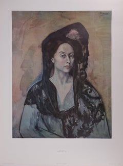 Spanish Woman : Ms Canals - Original vintage poster of Picasso Museum - 1966