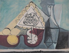 Still Life with Lemons and Bottle - Lithograph (Jacomet 1960)
