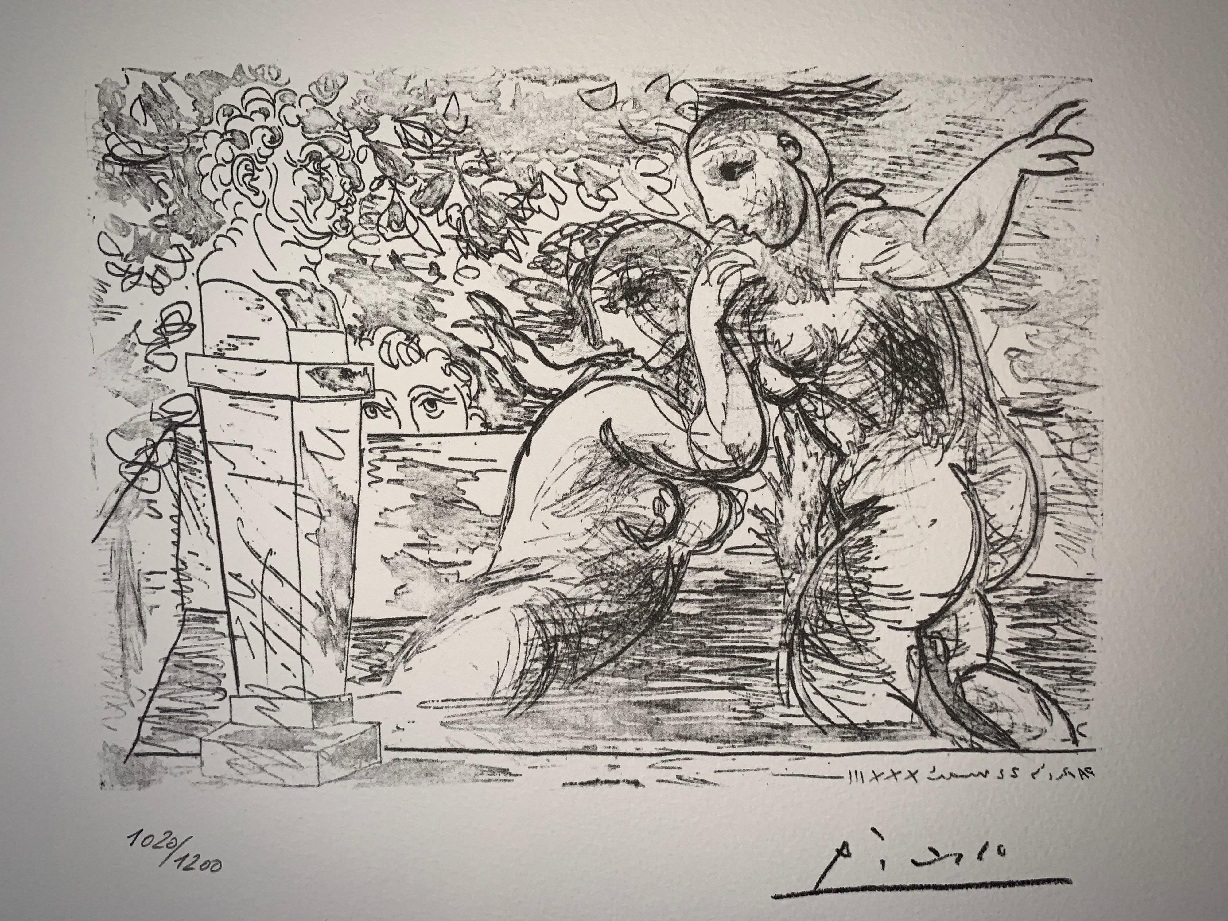 Suite Vollard plate XIV - 1973 - Signed - Pablo Picasso (1881-1973) (after)
