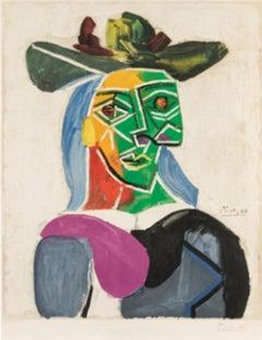 Tete de Femme Au Chapeau