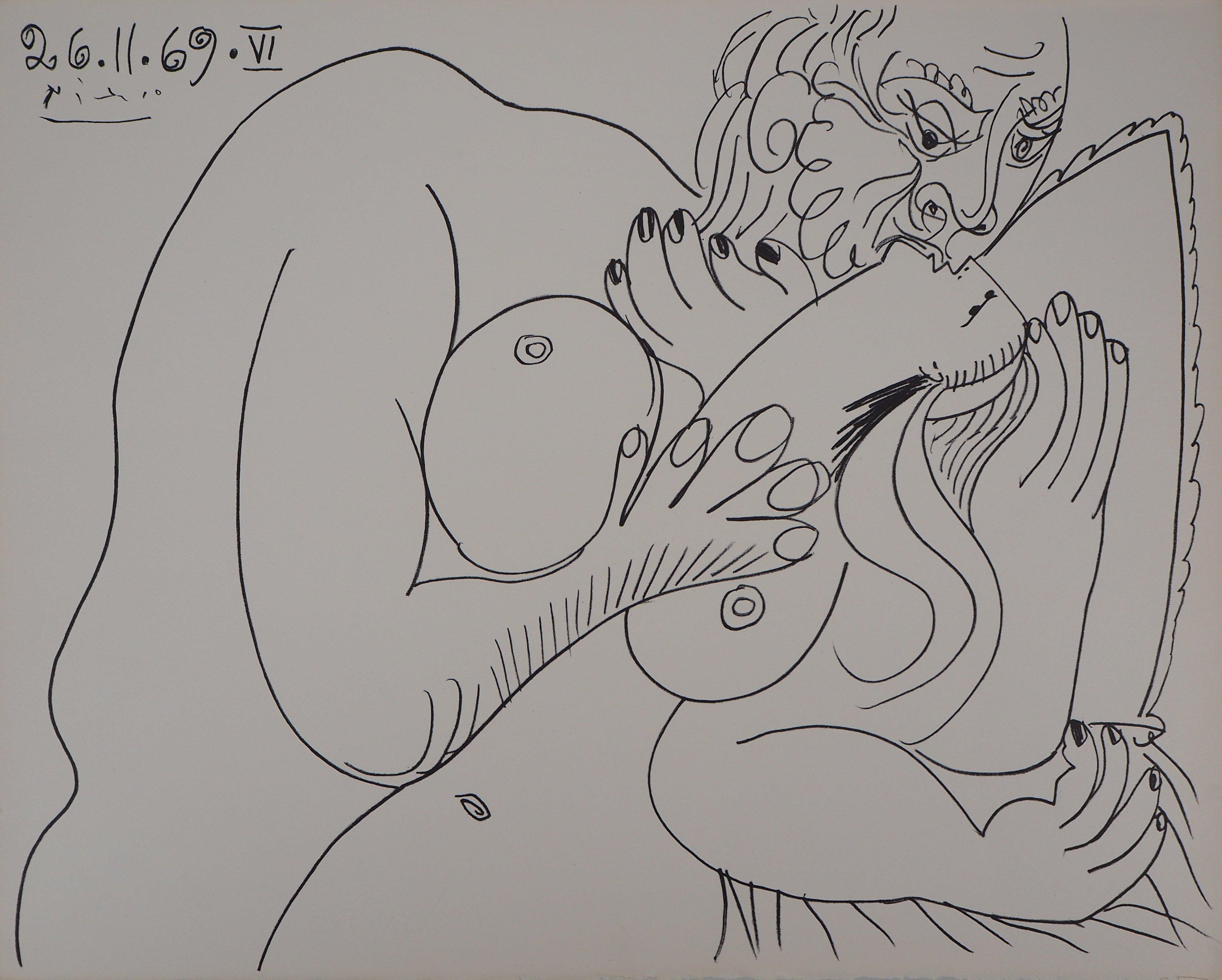 The Kiss - Lithograph (Mourlot 1971)