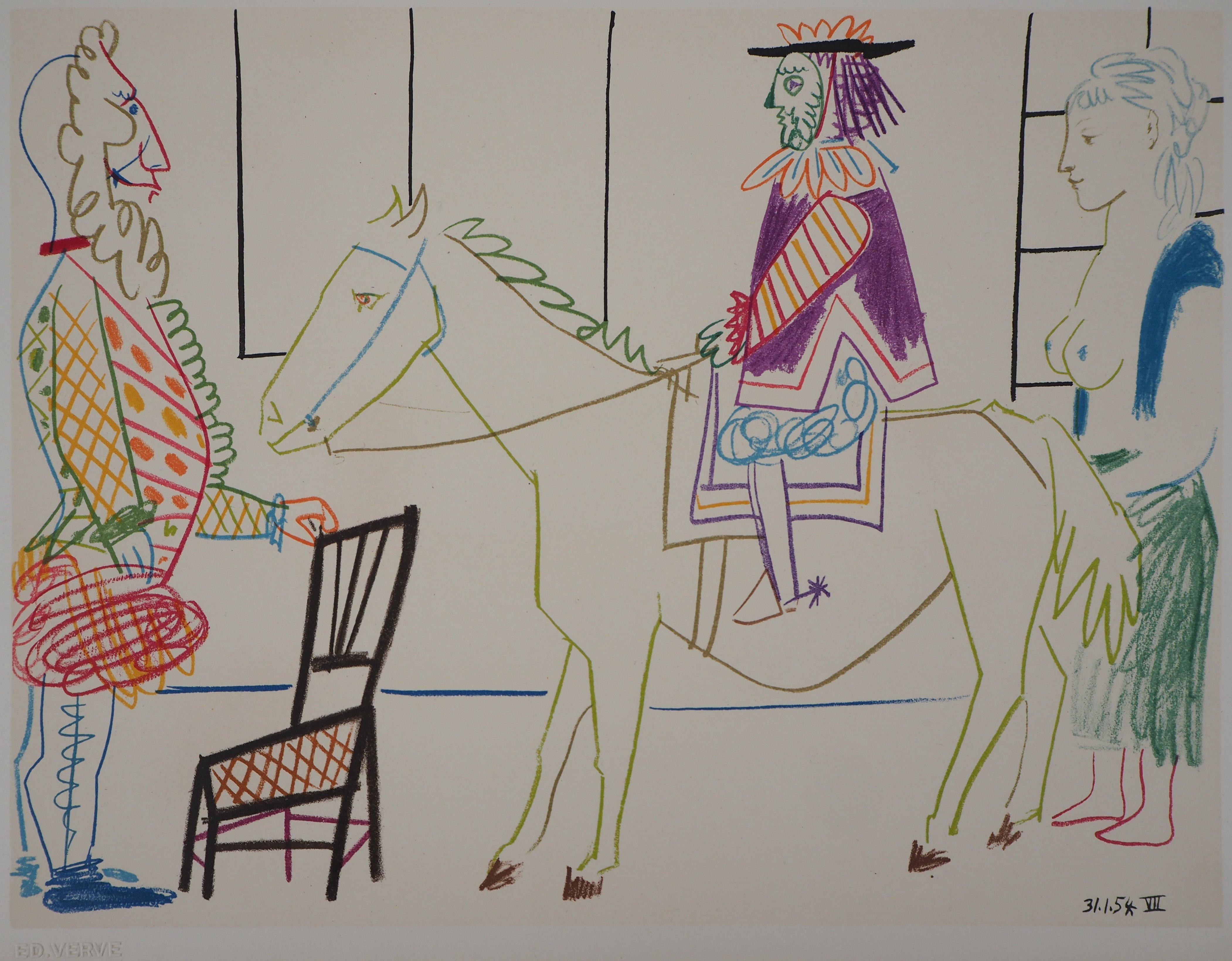 The Parade - Lithograph on Wove Paper - Verve, Mourlot
