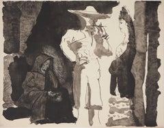 Toros :  A Toreador with a Woman - Lithography