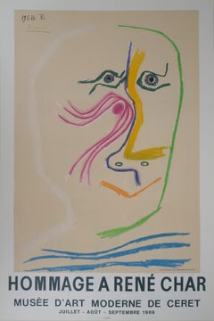 Tribute to Rene Char (Ceret Museum) - Lithograph, Mourlot (Cwiklitzer #291)