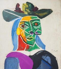 Woman with a Hat (Dora Maar) - Lithograph, Mourlot 1956 (Czwiklitzer #120)