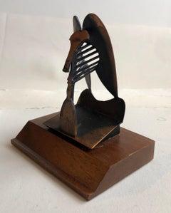 Vintage 1967 Modernist Maquette for Chicago Picasso Cubist Sculpture Head