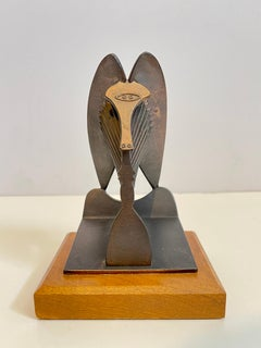 Vintage 1967 Modernist Maquette for Chicago Picasso Cubist Sculpture Head