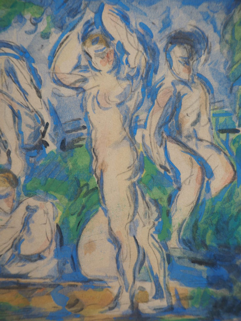 Bathers in a Landscape and Studies - Lithograph and Stencil Watercolor, 1947 1