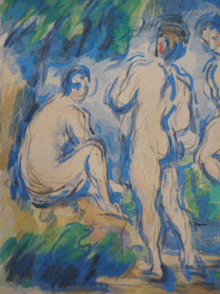 Bathers in a Landscape and Studies - Lithograph and Stencil Watercolor, 1947 2