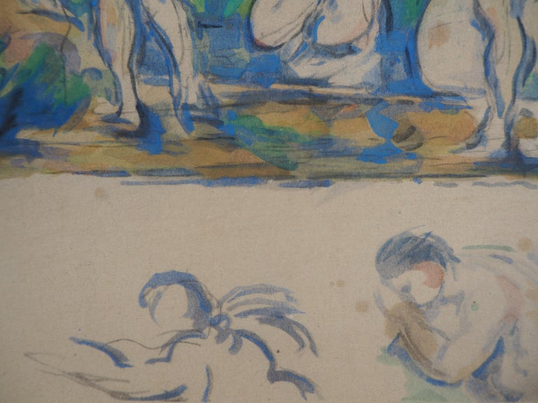 Bathers in a Landscape and Studies - Lithograph and Stencil Watercolor, 1947 3