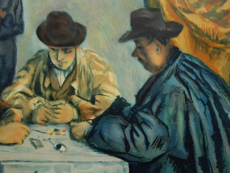 Paul CÉZANNE (after) Card Players, 1929  Etching and aquatint Engraved by Jacques Villon after the painting of Cezanne Numbered / 200ex Pencil signed by Jacques Villon On Arches vellum 64 x 77 cm (c. 26 x 31 inch)  REFERENCES : Catalogue raisonne