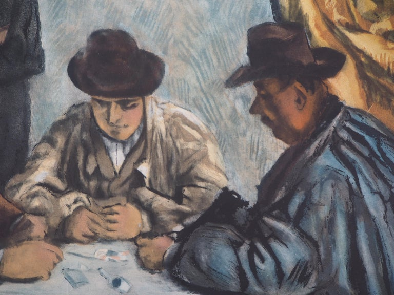 Paul CÉZANNE (after) Card Players, 1929  Etching and aquatint Engraved by Jacques Villon after the painting of Cezanne On Arches vellum 63 x 79 cm (c. 26 x 32 inch)  REFERENCES : Catalogue raisonne Ginestet-Pouillon #662  INFORMATIONS : This etching