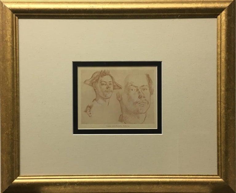 After Paul Cezanne Portrait Print - Double Portrait (1906)-Offset Lithograph, edition of 1000, with COA