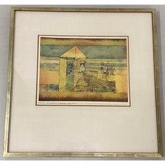 "After Paul Klee ""Wunderbare Landung"" Pochoir c.1964"