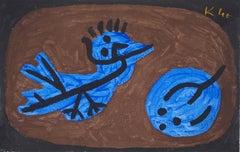 Blue, Bird, Squash - Lithograph and Stencil