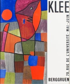 """Palesio Nua,"" Lithograph with Abstract Cubes Poster after Paul Klee"