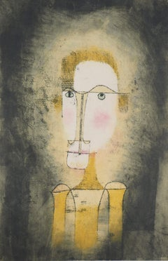 Portrait in Yellow - Lithograph and Stencil
