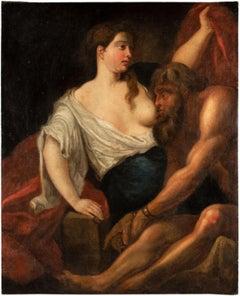 18th century Italian figure painting - Caritas - Oil on canvas Rubens follower