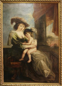 Peter Paul Rubens (After) - Helena Fourment with her Son Francis.
