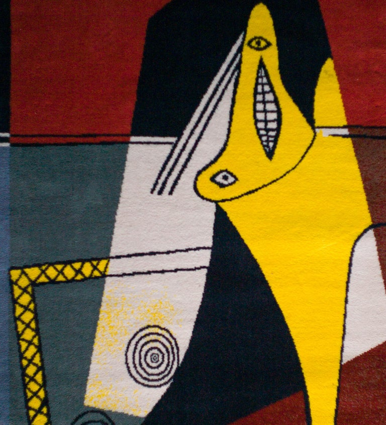 Beautiful large Picasso rug based on the original painting