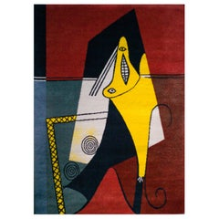 """After Picasso Large Wool Rug, """"La Figura,"""" 1927"""