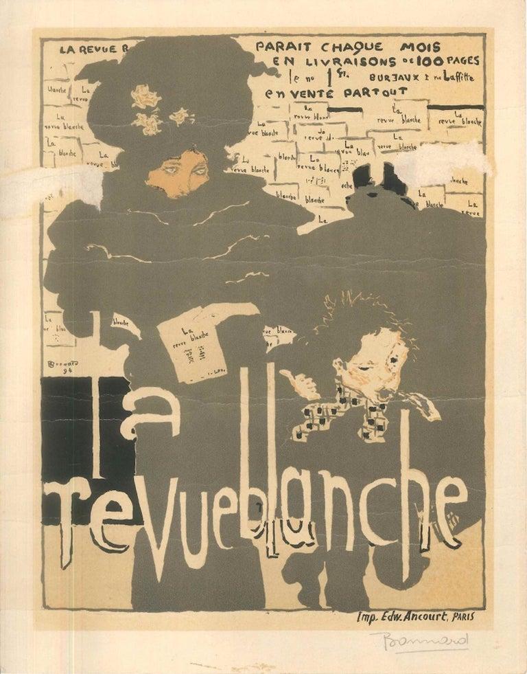 (after) Pierre Bonnard Figurative Print - La Revue Blanche - Original Lithograph After P. Bonnard - 1951