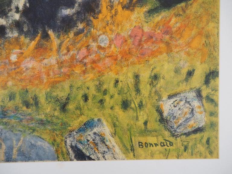 Landscape in Provence - Lithograph (Mourlot 1956) - Print by (after) Pierre Bonnard