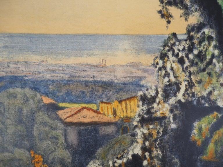 Landscape in Provence - Lithograph (Mourlot 1956) For Sale 1